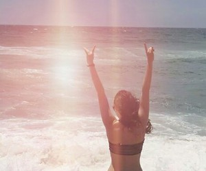 beach, bikini, and free image