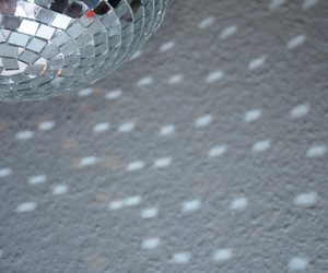 disco ball, silver, and sparkle image