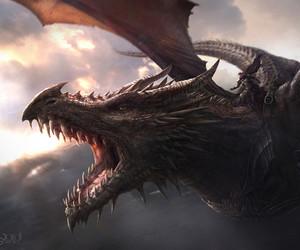 dragon, game of thrones, and aegon image