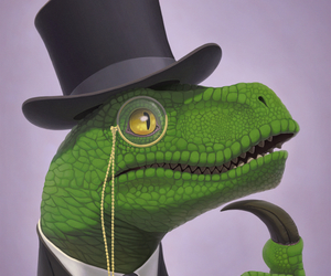 dinosaur, philosopher, and fan art image