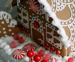 cookie, gingerbread house, and cute image