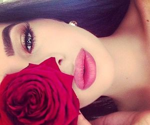 beaty, red, and girl image