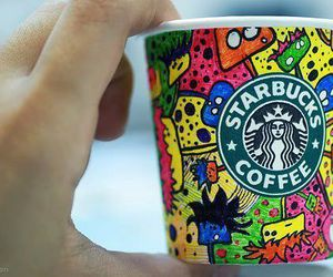 starbucks, coffee, and colors image