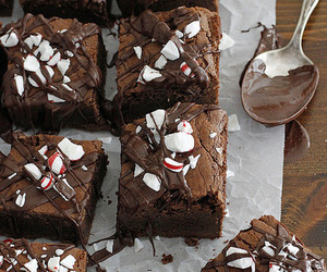 brownies, food, and peppermint image
