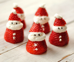 strawberry, christmas, and santa image