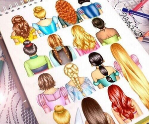 disney, draw, and hair image