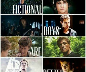 harry potter, boys, and hunger games image