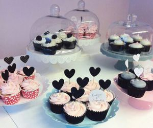 cupcake, icing, and food image