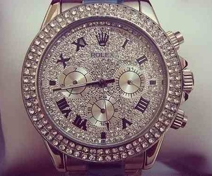 rolex, watch, and diamond image