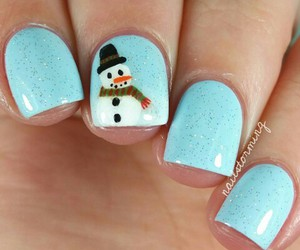 christmas, nail, and nail art image