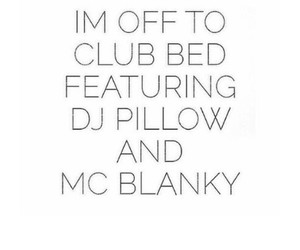 bed, club, and funny image