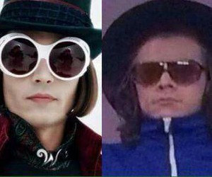 Willy Wonka, johnny depp, and funny image