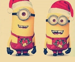 minions, christmas, and yellow image