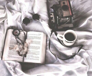 beautiful, book, and cofee image