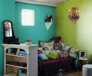 bedroom, room, and colors image