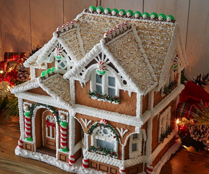 christmas, gingerbread house, and warm image