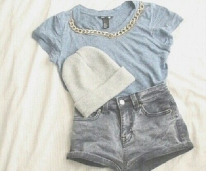 beanie, clothes, and shorts image