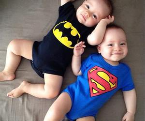 baby, superman, and batman image