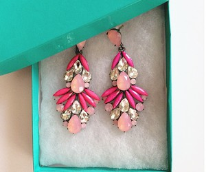 beautiful, earrings, and pink image