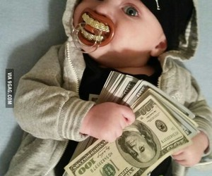baby, bills, and funny image