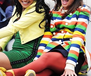 lea michele, naya rivera, and glee image