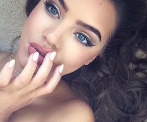 beauty, lips, and blue eyes image