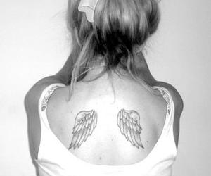 angel, Angel Wings, and wing tattoo image