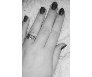 black, black&white, and nails image
