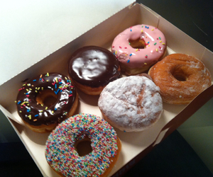 chocolate, donuts, and pink image