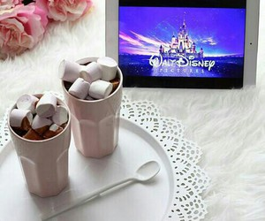relax, hot chocolate, and disney image