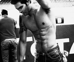 tattoes, tyler hoechlin, and smooth chest image