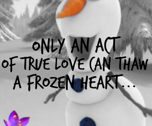 frozen, olaf, and true love image