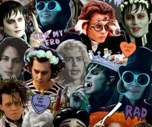 johnny depp, Collage, and background image