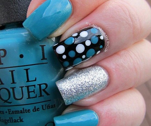 nails, nailart, and blue image