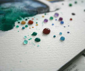 art, bubbles, and paint image