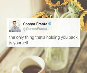 quote, holding back, and connor franta image