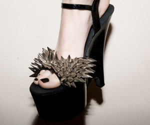 fashion, spikes, and shoes image