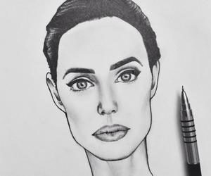 Angelina Jolie, art, and beautiful image