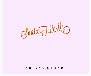 ariana grande, santa tell me, and christmas image
