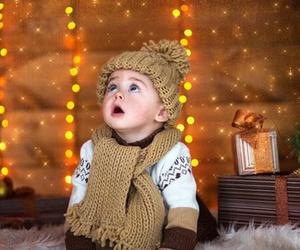 baby and christmas image