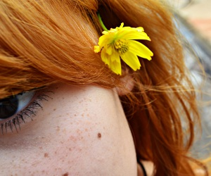 flowers, freckles, and ginger image