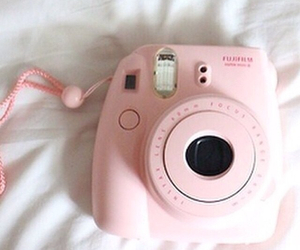 pink and polaroid image
