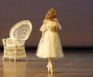 ballerina, ballet, and chair image