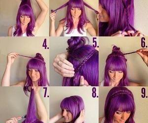 hairdo, violet, and trenza image