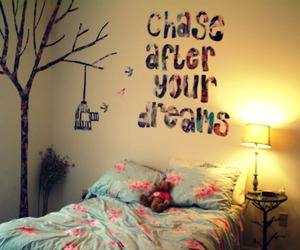 bed, words, and bedroom image
