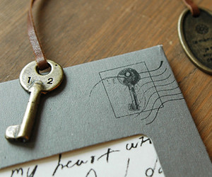 key and Letter image