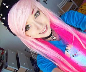 eyes, pink, and scene image