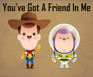toy story, friends, and woody image