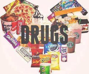 drugs, food, and pizza image