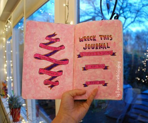 pink, wreck this journal, and WTJ image